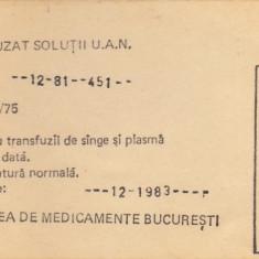 Brosura , Trusa pentru perfuzat solutii UAN (ingrasaminte lichide:solutie de uree-azotat de amoniu)  din '80