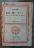 Carte - Goethe - Entretiens - Avec le chancelier F. de Muller