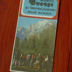 Harta Turistica - Muntii Bucegi - 1982 !!!