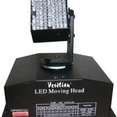 MOVING HEAD PE LEDURI , CAP MOBIL DISCO PE LED , MODEL 2.