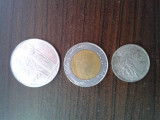 100000 lire turcesti 2ooo ,50 lire turcesti 1996, 5000 lire turcesti 1994, 100 lire italiene 1980,500 lire italiene 1987, 100 lire italiene 1995