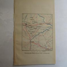 Harta color tinutul Plevna Lovcea 22 x 15 cm 1878 - Reproduceri arta