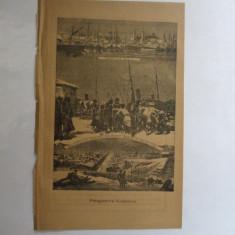 Gravura Perspectiva Galatilor 22 x 15 cm 1878 - Reproduceri arta
