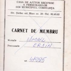 CARNET DE MEMBRU CASA DE AJUTOR RECIPROC A PENSIONARILOR, Documente
