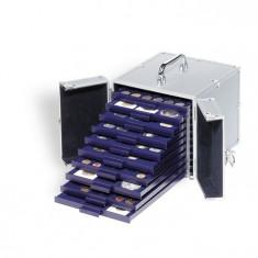 Aluminium valiza Cargo S 10 pentru 10 MBS PVC Numis cutie de monede