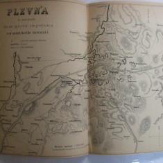 Harta Plevna si tinutul din jur impreuna cu santurile turcesti 28 x 22 cm 1878 - Reproduceri arta