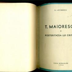 TITU MAIORESCU SI POSTERITATEA LUI CRITICA - Eugen LOVINESCU