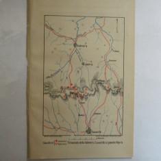 Harta color Santuri rusesti, turcesti Tinutul de la Gabrova, Casanlik si pasul Sipca 22 x 15 cm 1878 - Reproduceri arta