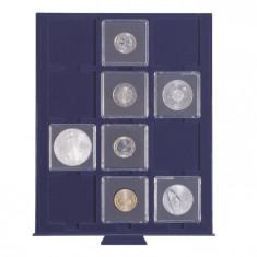 PVC Numis cutie MBS pentru 12 monede ,dimensiune 50mm.