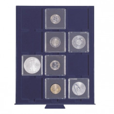 PVC Numis cutie MBS pentru 12 monede, dimensiune 50mm.