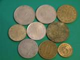 Lot Iugoslavia 9 monede diferite 50 dinari 2 dinari 1 dinar diverse emisii 20 para 10 para 5 para