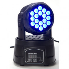MOVING HEAD CU LEDURI 18 LEDURI X 3 WATT,LUMINI PROFESIONALE PT.DJ,CLUB.