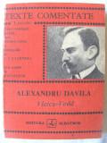 """TEXTE COMENTATE Lyceum: """"ALEXANDRU DAVILA. Vlaicu - Voda"""", 1988. Carte noua"""