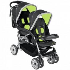 Carucior Vegas destinat gemenilor sau copiilor cu varste apropiate - Carucior copii 2 in 1 Altele, 0-6 luni, Pliabil