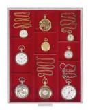 PVC Cutie pentru bijuterie,ceasuri,medalie / impartita in 3 randuri/