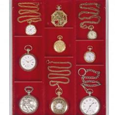 PVC Cutie pentru bijuterie, ceasuri, medalie / impartita in 3 randuri/ - Cutie Bijuterii