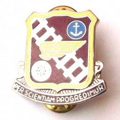 INSIGNA MILITARA SUA US ARMY TRANSPORTATION SCHOOL Per Scientiam Progredimur **, America de Nord