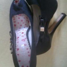 Pantofi Miss Sixty nr. 36 - Pantof dama Miss Sixty, Culoare: Negru, Negru, Cu toc