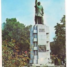 Carte postala(ilustrata)-BISTRITA-Statuia lui Andrei Muresanu