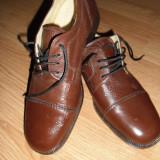 Pantofi piele naturala - Pantof barbat, Marime: 40, Culoare: Maro, Maro