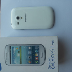 Samsung galaxy s3 mini, in garantie - Telefon mobil Samsung Galaxy S3 Mini, Alb