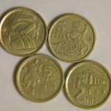 Lot Spania 4 monede 5 pesetas diferite, Europa