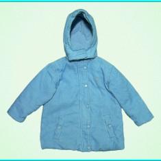 Geaca primavara-toamna, catifea reiata, grosuta POWER KIDS _ fete | 2-3 ani | 98, Marime: Alta, Culoare: Bleu