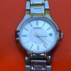 Seiko Premier - ceas de dama - Ceas dama Seiko, Elegant, Quartz, Inox, Data