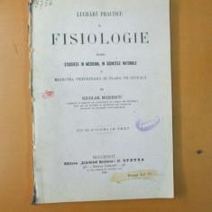 N. Moisescu Lucrari practice de fisiologie pentru studentii in medicina veterinara Bucuresti 1901 - Carte Medicina veterinara