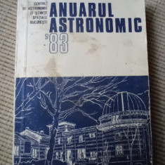 Anuarul astronomic 1983 cu harta - Carte Astronomie