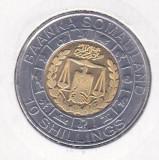 bnk mnd Somaliland 10 shillings 2012 unc, zodiac - varsator - bimetal