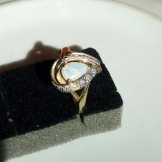 Inel de aur cu opal, tanzanite si diamante