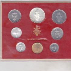 Bnk mnd Vatican set monede necirculate 1976 - 1+2+5+10+20+50+100+ 500 lire