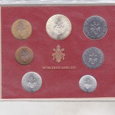 Bnk mnd Vatican set monede necirculate 1978 - 1+2+5+10+20+50+100+ 500 lire