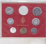 Bnk mnd Vatican set monede necirculate 1977 - 1+2+5+10+20+50+100 lire, Europa