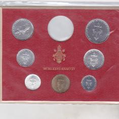 Bnk mnd Vatican set monede necirculate 1977 - 1+2+5+10+20+50+100 lire