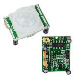 Senzor infrarosu de miscare PIR HC-SR501  Arduino / PIC / AVR / ARM / STM32, Exterioara