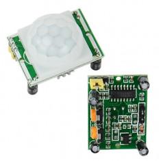 Senzor infrarosu de miscare PIR HC-SR501 Arduino / PIC / AVR / ARM / STM32 - Senzori miscare, Exterioara
