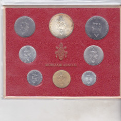 Bnk mnd Vatican set monede necirculate 1973 - 1+2+5+10+20+50+100+ 500 lire