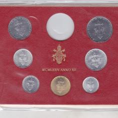 Bnk mnd Vatican set monede necirculate 1974- 1+2+5+10+20+50+100 lire