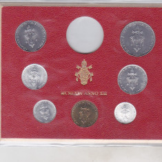 Bnk mnd Vatican set monede necirculate 1975 - 1+2+5+10+20+50+100 lire
