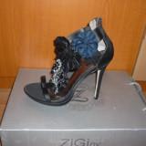 Sandale dama Ziginy, Culoare: Negru, Marime: 41, Negru