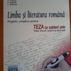 LIMBA SI LITERATURA ROMANA Pregatire completa teza cu subiect unic - Costache - Carte Teste Nationale
