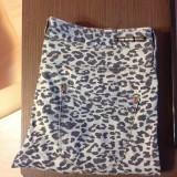 Jeans Animal Print Pull&Bear - Pantaloni dama, Marime: 40, Culoare: Albastru, Lungi