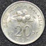 1794 MALAYSIA 20 SEN 1992