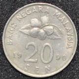 1795 MALAYSIA 20 SEN 1990