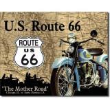 Reclama metalica vintage U.S. ROUTE 66