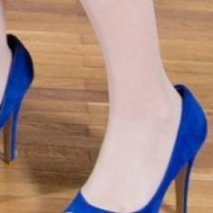Pantofi dama MANGO, nr. 38, purtati o singura data - 150 lei - Pantof dama Mango, Culoare: Albastru