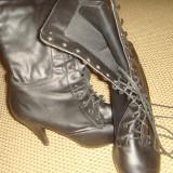 cizme negre 37