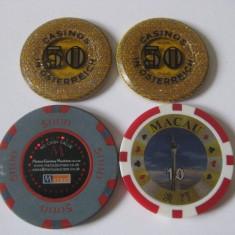 LOT 4 JETOANE CAZINO - Jetoane numismatica